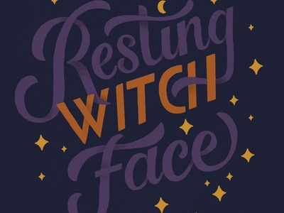 Resting Witch Face Lettering