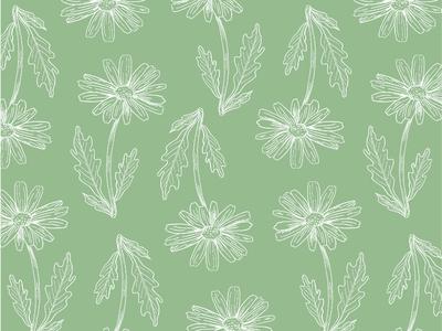 Gerbera Floral Pattern