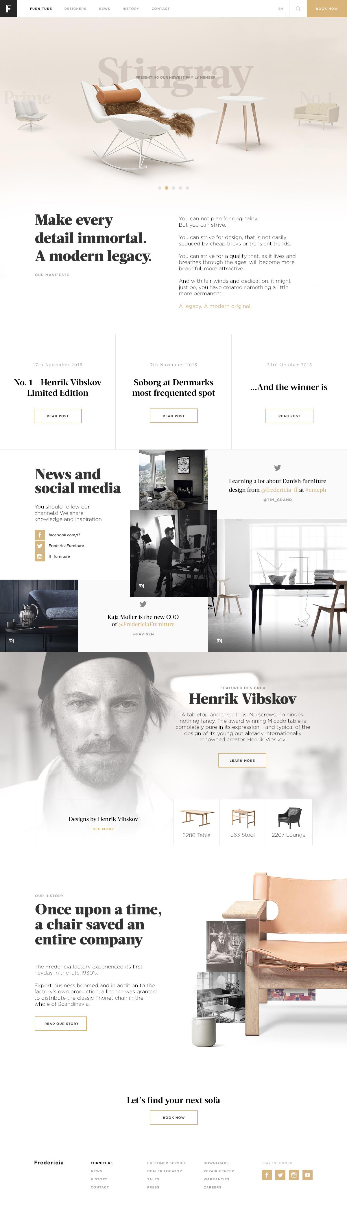 Desktop frontpage