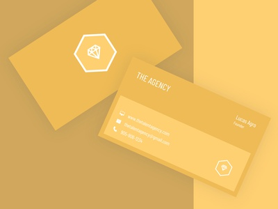 Agency Business Card Design design logo uidesign startup marketing businesscard startup branding