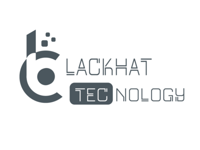 Blackhat Technology b letter icon typography app development logo alphabet bt ui logo design blackhattechnology xd blackhat