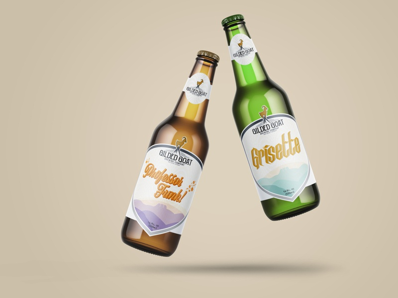 Gilded Goat Brewery Label Designs