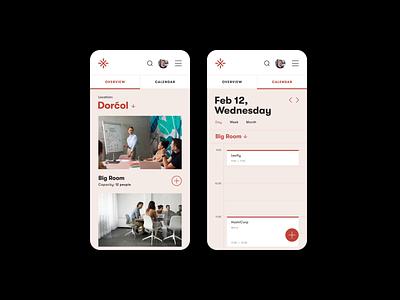 Meeting Rooms — Booking app [Animated] ux ui mobile flat minimal app design booking app uiux scheduler meeting room conference room calendar app