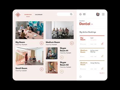 Meeting Rooms — Booking app [Overview] pastel app designer meeting client ui  ux booking app conference room meeting rooms scheduler calendar app design minimal flat