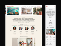 Nova Iskra Workspace — Website Layout mobile desktop columns grid website design clean pastel workstation identity community gallery layout website workspace