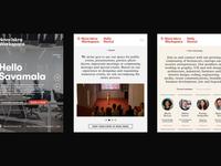 Nova Iskra Workspace — Tablet View responsive website layout grid tablet identity rental location workspace workstation responsive
