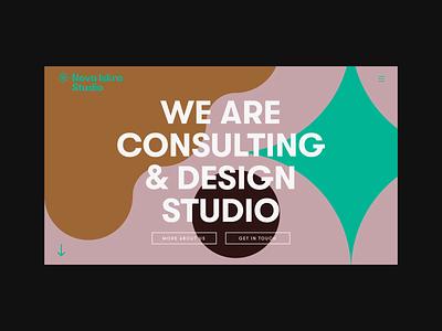 Nova Iskra Studio — Landing portfolio website consulting services design studio 2d typography branding logo identity flat