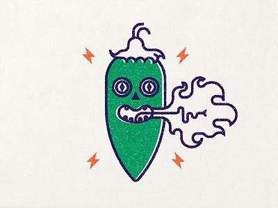 Jalapeño spice hot jalapeno chilli pepper chili illustration vector flat design
