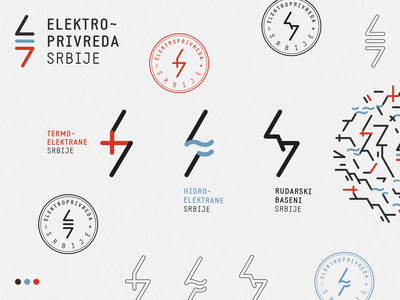 Redesign: Elektroprivreda Srbije source electricity industry power electric energy icon branding logo identity vector flat design