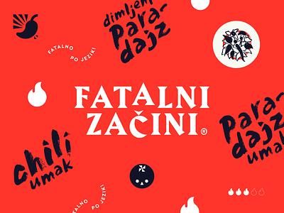 Fatal Spices — Identity handwritten fatal spices logotype design vector icon logo chili spicy tomato pepper hot identity
