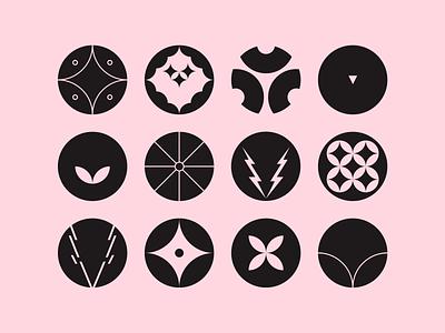 Monogram: O+V pictogram symbol lettermark letter personal initials letter o letter v geometric logo identity icon flat vector design