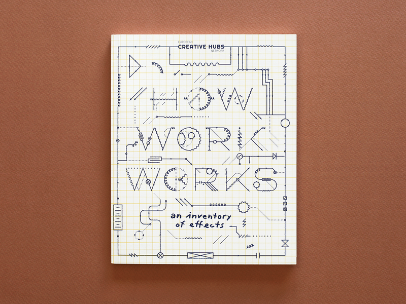 How Work Works — Publication book cover layout brochure design publication conference design vector circuit electricity lines work process thinking wire