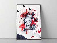 Deconstructed Marilyn Collage Poster