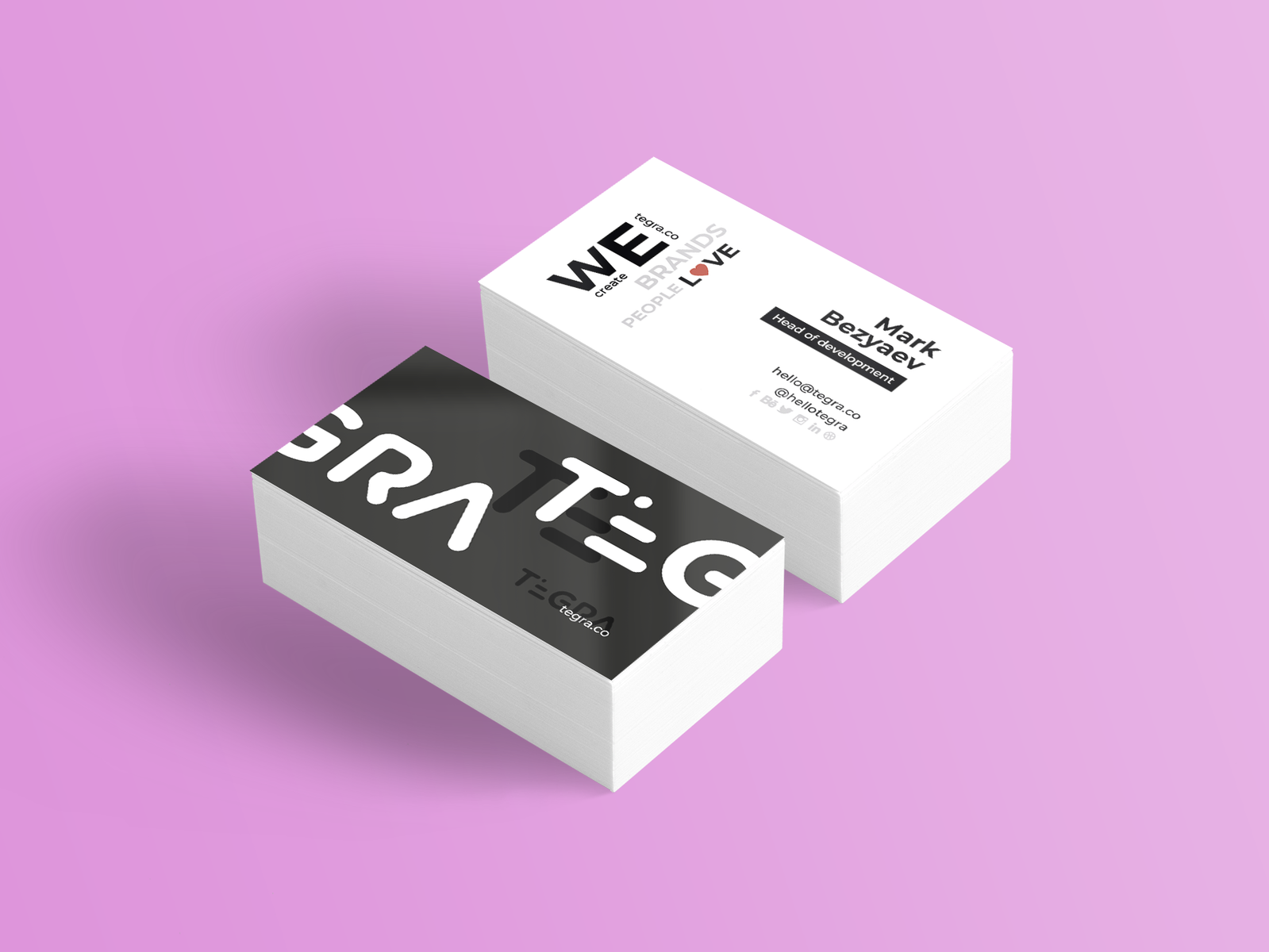 Tegra business card by rina barnadskaya dribbble business card 3 4x reheart Images