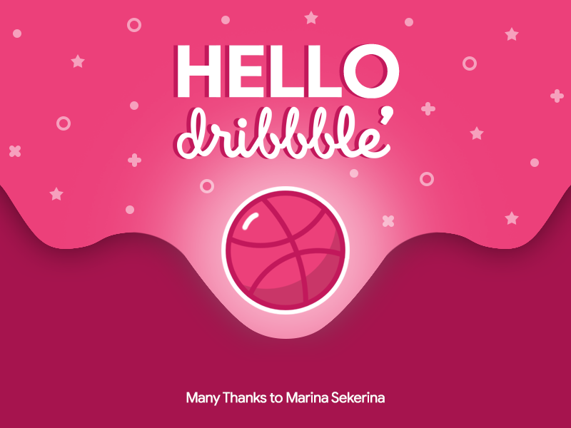 Hello, Dribbble! color shot first dribbblers dribbble hello