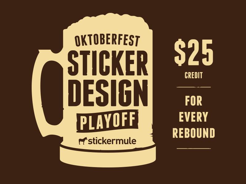 Oktoberfest Sticker Design Playoff sticker mule stickers contest playoff rebound