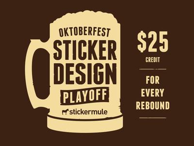 Oktoberfest Sticker Design Playoff
