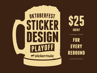 Oktoberfest Sticker Design Playoff