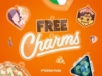 3 days left for free charms! charms free winners contest giveaway rebound playoff stickers sticker mule