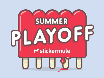 Playoff! Summer Sticker Design Contest popsicle summer rebound playoff contest stickers sticker mule
