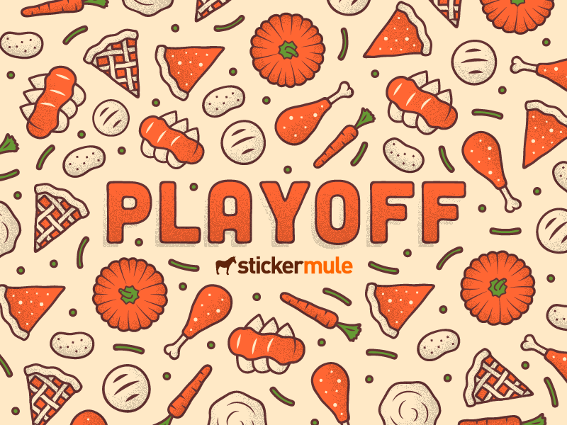 Thanksgiving sticker design contest by sticker mule dribbble