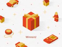 Sticker Mule Holiday Playoff Winners