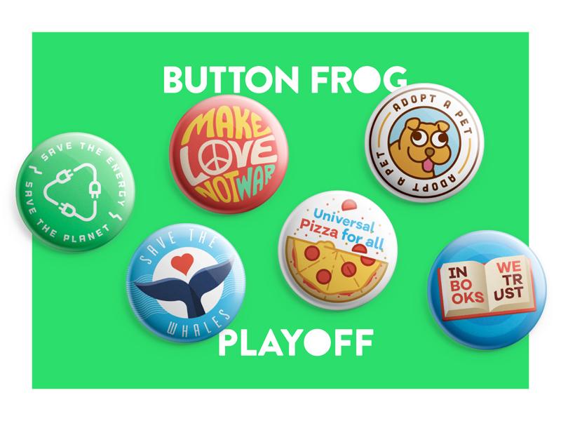 Playoff! Political Button Design Contest sticker mule button frog contest playoff rebound buttons politics