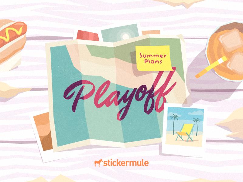 Playoff! Summer Plans Sticker Design Contest illustration sticker mule stickers contest playoff rebound summer
