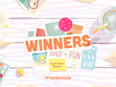 Winners! Summer Plans Playoff summer rebound playoff contest stickers sticker mule illustration winners