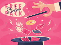 Hat Trick - Free Dribbble Sticker Pack