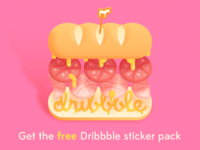 Delicious Stickers for Dribbblers - Free Sticker Pack