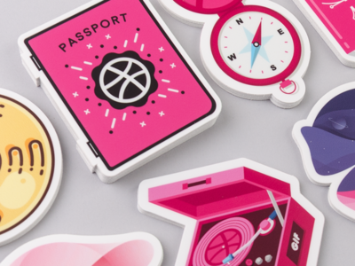 Final Day for Free Limited Edition Dribbble Stickers stickers sticker mule playoff giveaway free design dribbble custom stickers