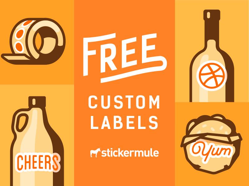 Free Custom Labels Giveaway! die cut labels rebound custom stickers sticker mule free stickers giveaway