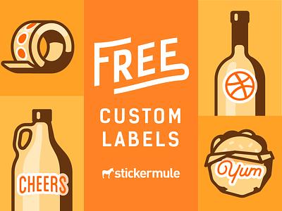 Free labels shot