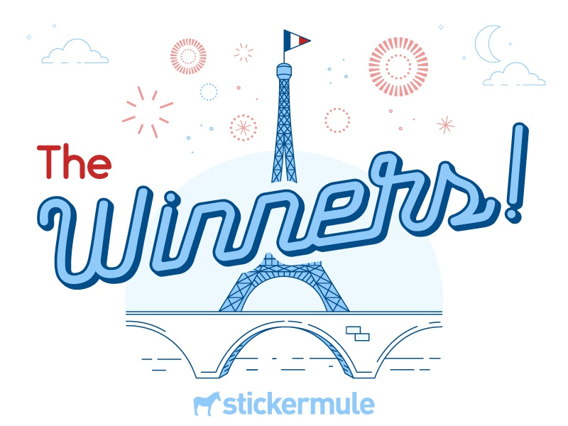 Winners of the 'France Sticker Design' Playoff winners contest rebound sticker mule stickers playoff france