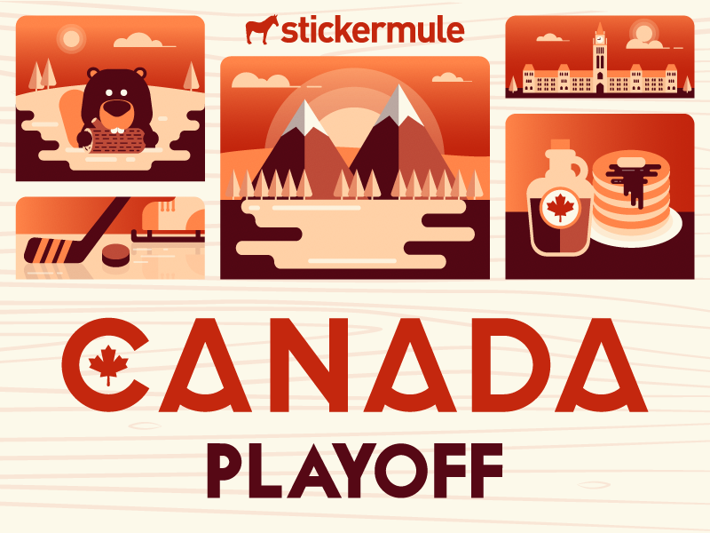 Playoff! Canada sticker design contest stickers sticker mule rebound playoff canada contest