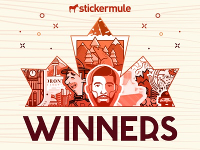 Winners of the 'Canada Sticker Design' Playoff winners contest rebound sticker mule stickers playoff canada