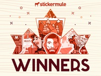 Winners of the 'Canada Sticker Design' Playoff