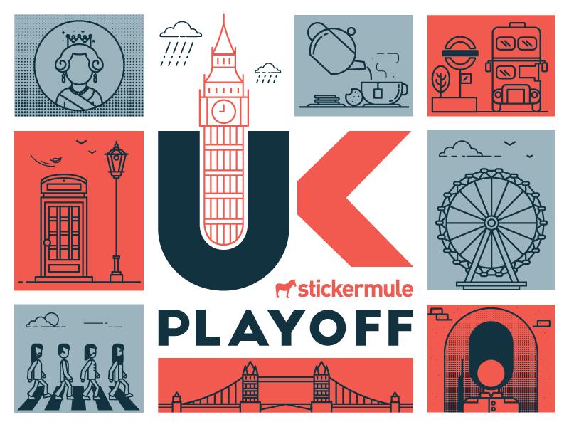 Playoff! UK sticker design contest contest rebound sticker mule stickers playoff uk