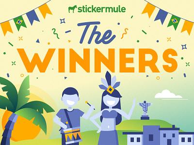 Brazil Playoff Winners winners contest rebound sticker mule stickers playoff brazil