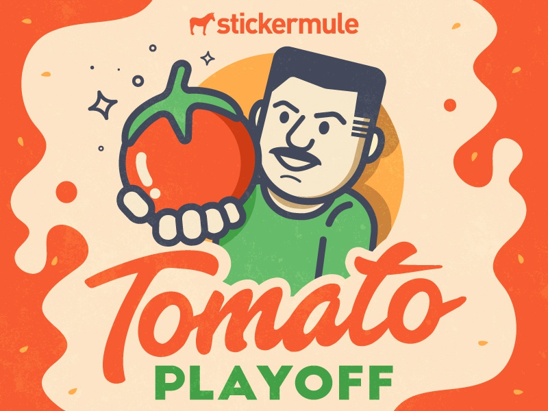 Vinny's tomato playoff! stickers sticker mule rebound playoff contest tomato