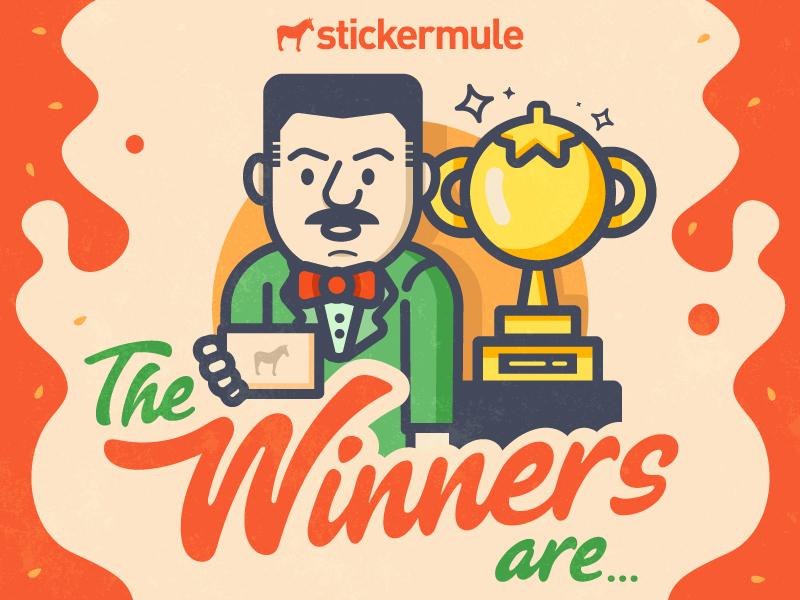 Tomato playoff winners tomato vinny playoff stickers sticker mule rebound contest winners