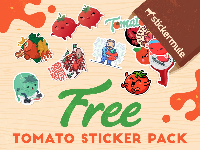Tomato sticker pack brown