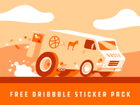 Free Dribbble sticker pack reminder