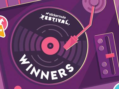 Winners! Sticker Mule Italian Music Festival!