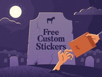Free custom stickers for everyone!