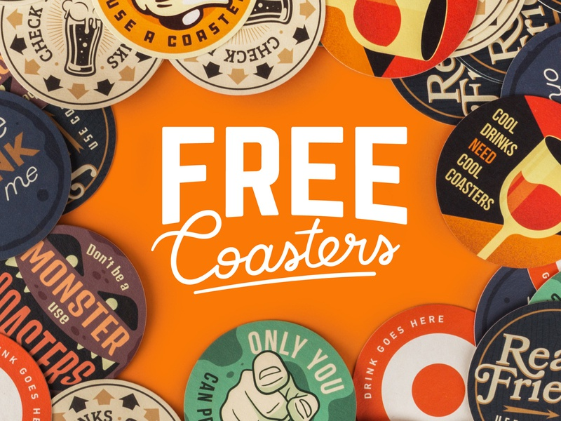 Giveaway! Free Coasters! coasters playoff sticker mule