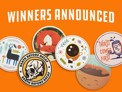 Announcing the coaster playoff winners! coasters giveaway contest playoff sticker mule