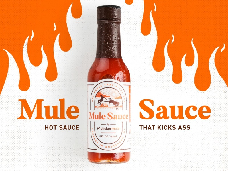 Introducing Mule Sauce! sticker mule stickermule hot sauce