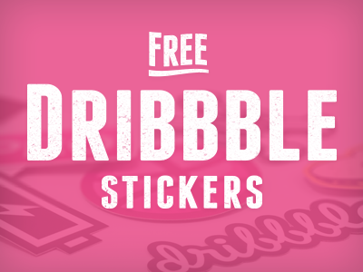 Free dribbble stickers
